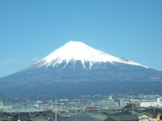 Mount Fugi from Train