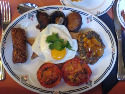 Vegi breakfast at Paskin's Town House, Brighton