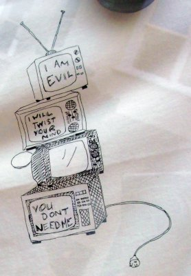 TV is Evil T-shirt