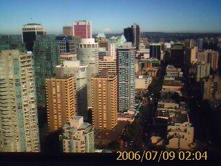 View over Robson St