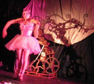 Carnesky's Caberet - A doll dances for our amusement
