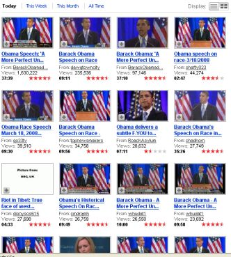 Obama tops you tube