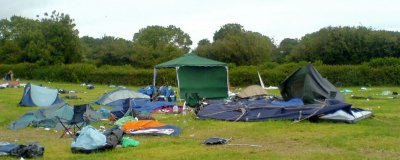 Post Festival Mess and Abandoned Tents