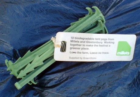 Vegetarian Tent Pegs (not much use)