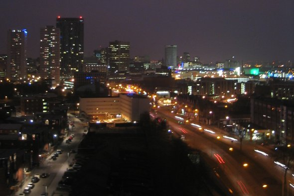 View of Birmingham from 18th Storey of Haddon Tower