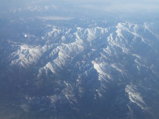 Mountains from Plane