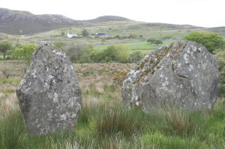 Stones on back road to Lough Salt