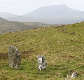 Stones near Lough Salt with Erigall in background