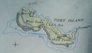 Map of Tory Island
