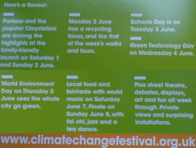 Climate Change Festival - What's on
