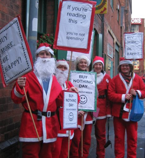 Buy Nothing Day Santas