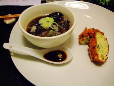 Aubergine Soup and Tofu Balls