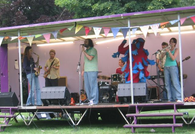 On Stage at Cotteridge Festival