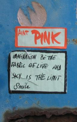 Imagination be the fabric of life - Ain't Pink